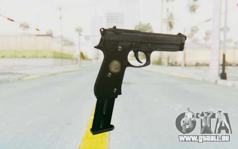 Tariq Iraqi Pistol Back v1 Black Long Ammo für GTA San Andreas zweiten Screenshot
