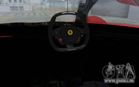 Ferrari F80 Concept 2015 Beta pour GTA San Andreas vue intérieure