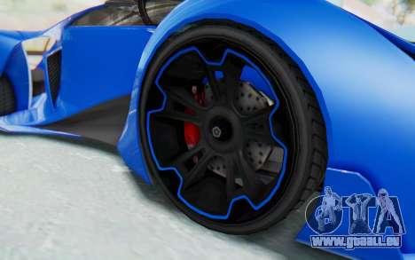 GTA 5 Grotti Prototipo v1 für GTA San Andreas Rückansicht