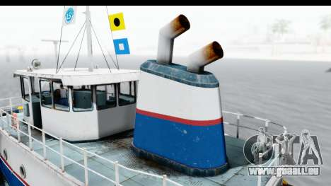 GTA 5 Buckingham Tug Boat v1 IVF für GTA San Andreas Rückansicht