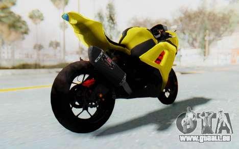 Kawasaki Ninja 250 Abs Streetrace v2 pour GTA San Andreas sur la vue arrière gauche