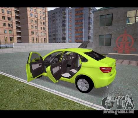 Lada Vesta pour GTA San Andreas sur la vue arrière gauche