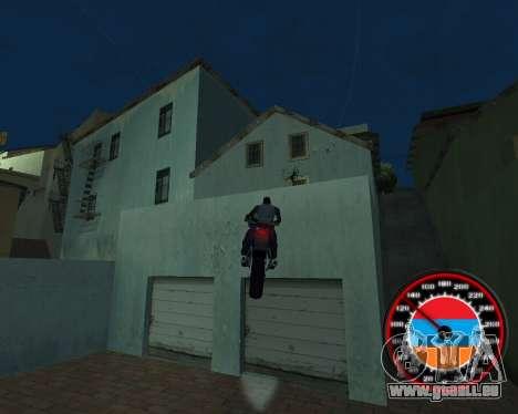 Le compteur de vitesse dans le style du drapeau  pour GTA San Andreas septième écran
