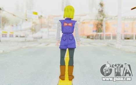Dragon Ball Xenoverse Android 18 Jacket pour GTA San Andreas troisième écran