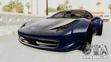 Ferrari 458 VPM Crew für GTA San Andreas rechten Ansicht