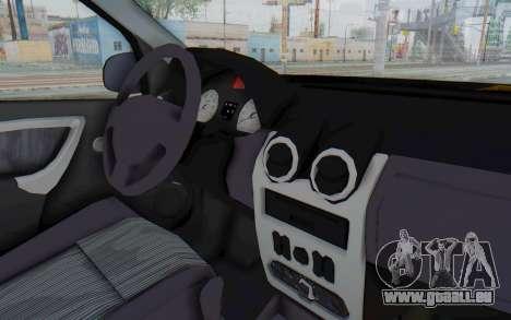 Dacia Logan Facelift Ambulanta pour GTA San Andreas vue intérieure