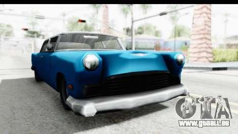Cabbie Oceanic pour GTA San Andreas vue de droite