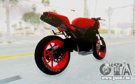 Kawasaki Ninja 250R Streetrace Naked pour GTA San Andreas laissé vue