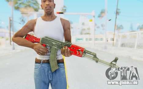 CS:GO - AK-47 Laminate Red für GTA San Andreas dritten Screenshot