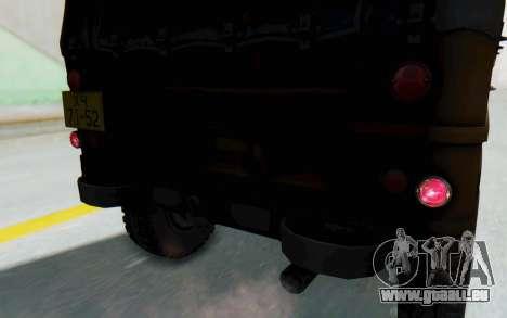 UAZ-460Б FIV pour GTA San Andreas vue de côté