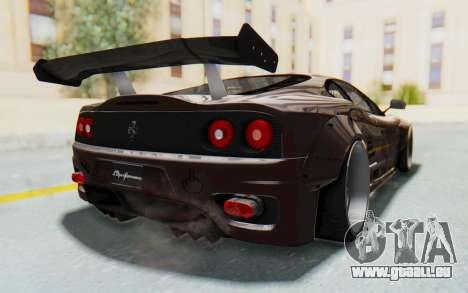 Ferrari 360 Modena Liberty Walk LB Perfomance v1 pour GTA San Andreas vue de droite