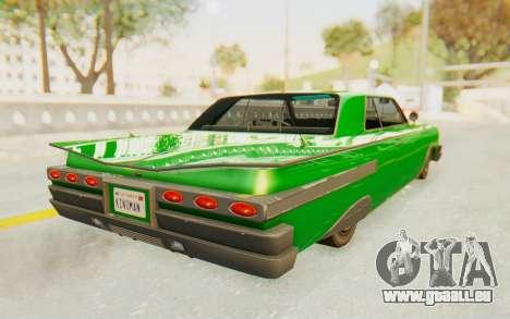 GTA 5 Declasse Voodoo SA Lights pour GTA San Andreas laissé vue