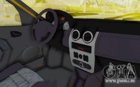 Dacia Logan Taxi pour GTA San Andreas vue intérieure