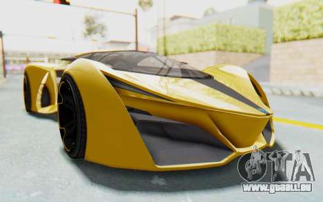 GTA 5 Grotti Prototipo v2 IVF pour GTA San Andreas vue arrière