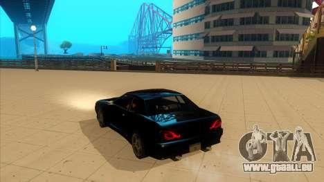Elegy Bushido pour GTA San Andreas laissé vue