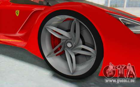 Ferrari F80 Concept 2015 Beta pour GTA San Andreas vue arrière