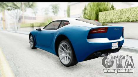 GTA 5 Lampadati Furore GT SA Lights für GTA San Andreas linke Ansicht