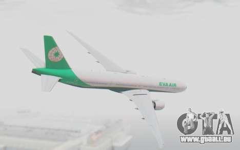 Boeing 777-300ER Eva Air v3 für GTA San Andreas linke Ansicht