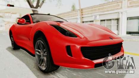 GTA 5 Grotti Bestia GTS v2 IVF für GTA San Andreas rechten Ansicht