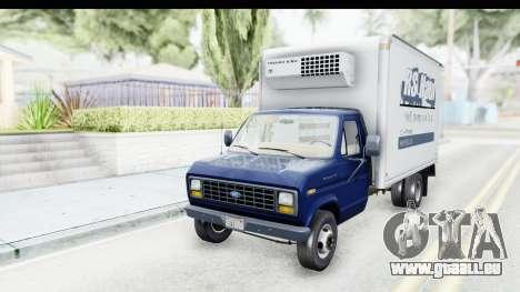 Ford E-350 Cube Truck IVF pour GTA San Andreas sur la vue arrière gauche