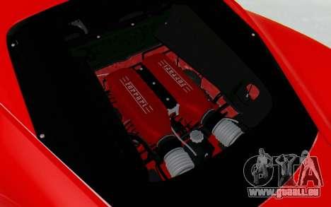 Ferrari 458 Italia F142 2010 pour GTA San Andreas vue de côté