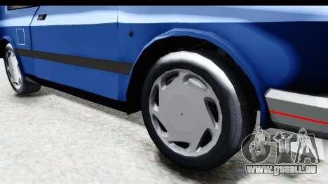Zastava Yugo Koral UK pour GTA San Andreas vue arrière