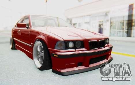 BMW M3 E36 2.5 TDS für GTA San Andreas Rückansicht