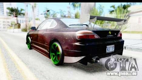 Nissan Silvia S15 Galaxy Drift v2.1 pour GTA San Andreas laissé vue