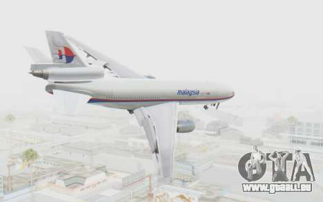 DC-10-30 Malaysia Airlines (Old Livery) für GTA San Andreas linke Ansicht