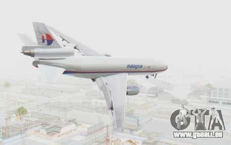 DC-10-30 Malaysia Airlines (Old Livery) pour GTA San Andreas laissé vue