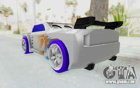 Hot Wheels AcceleRacers 3 pour GTA San Andreas sur la vue arrière gauche