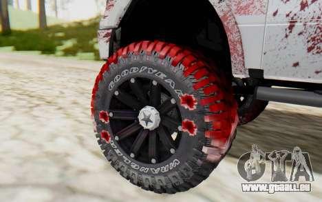Ford F-150 ROAD Zombie pour GTA San Andreas sur la vue arrière gauche