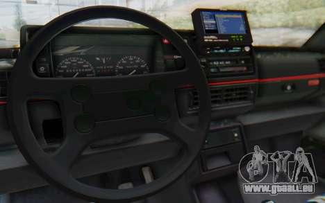 Volkswagen Golf Mk2 für GTA San Andreas Innenansicht
