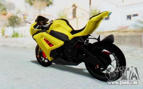 Kawasaki Ninja 250 Abs Streetrace v2 pour GTA San Andreas laissé vue