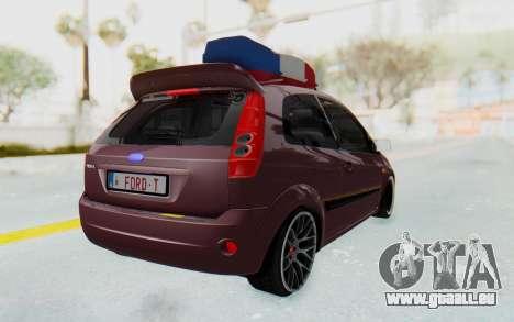 Ford Fiesta pour GTA San Andreas laissé vue