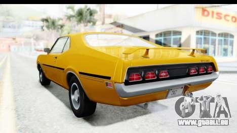 Mercury Cyclone Spoiler 1970 IVF pour GTA San Andreas laissé vue