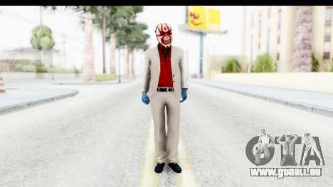 Payday 2 - Jiro with Mask pour GTA San Andreas deuxième écran
