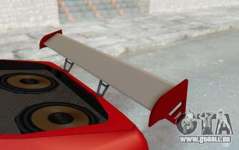 Elegy GT v1 pour GTA San Andreas vue de dessus