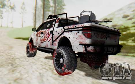 Ford F-150 ROAD Zombie für GTA San Andreas linke Ansicht