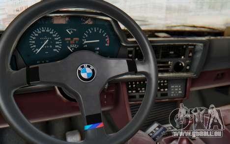 BMW M635 CSi (E24) 1984 IVF PJ1 für GTA San Andreas Innenansicht