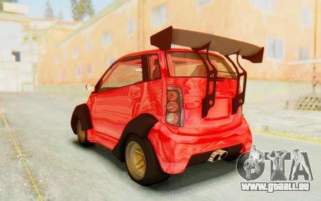 GTA 5 Benefactor Panto Custom für GTA San Andreas rechten Ansicht