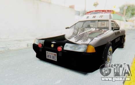 Elegy Japanese Police pour GTA San Andreas sur la vue arrière gauche