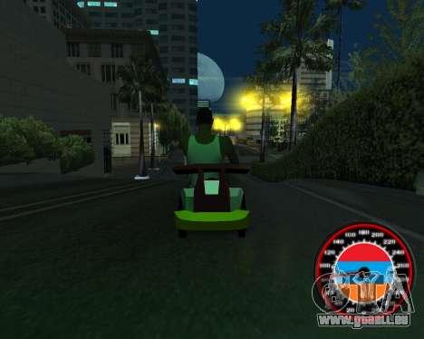Le compteur de vitesse dans le style du drapeau  pour GTA San Andreas cinquième écran