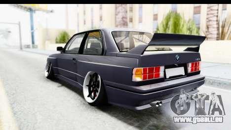 BMW M3 E30 2015 JDM pour GTA San Andreas laissé vue