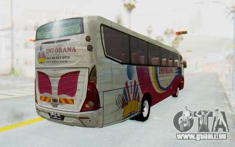 Marcopolo Inforana Bus pour GTA San Andreas sur la vue arrière gauche