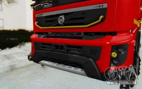 Volvo FMX 6x4 Dumper v1.0 für GTA San Andreas Innenansicht