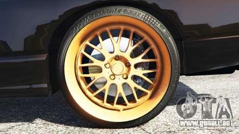 GTA 5 Nissan 180SX Type-X v0.5 arrière droit vue de côté