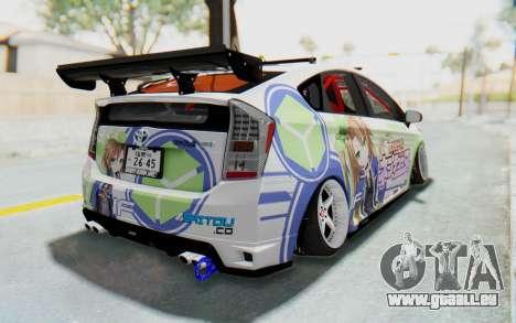 Toyota Prius Hybrid 2011 Hellaflush IF Itasha für GTA San Andreas linke Ansicht