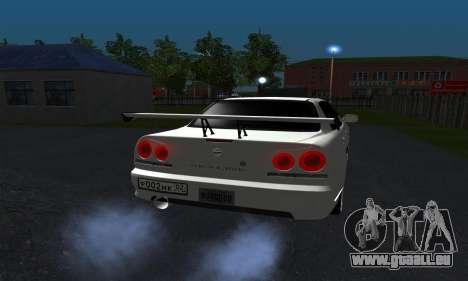Nissan Skyline ER34 GT-R pour GTA San Andreas vue de droite