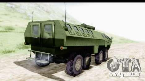 Lazar Serbian Armored Vehicle pour GTA San Andreas laissé vue